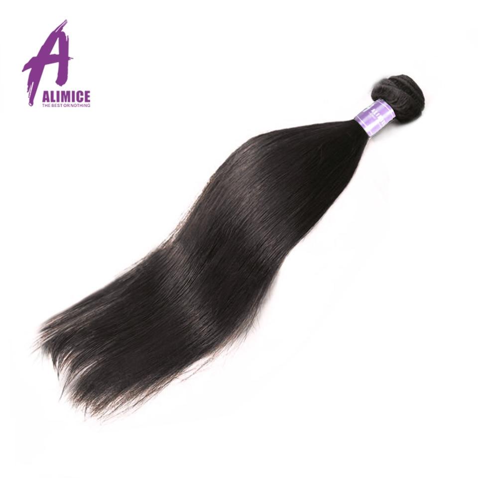 Peruvian Straight Hair Bundles Non-Remy Human Hair Weave Bundles Machine Double Weft Alimice Hair Extension Natural Color