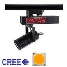 10X Высокая мощность 15 Вт 25 Вт 35 Вт COB светодиодный Трек освещение CREE светодиодный освещение в помещении Wam белый холодный белый светодиодные фонари место на рельсе
