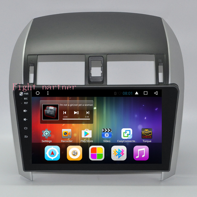 US $150 0 |10 2 inch 1024x600 HD touch screen Android 6 0 Car DVD  Multimedia GPS For Toyota Corolla E140/E150-in Car Multimedia Player from