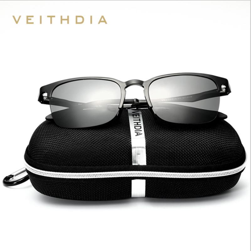 VEITHDIA Unisex Retro Aluminio Magnesio Semi sin montura Gafas de sol - Accesorios para la ropa - foto 2