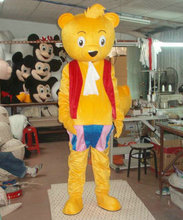 High quality Yellow Beach Bear mascot costume Bear Cartoon mascot Bear Cosplay costume  fast shipping