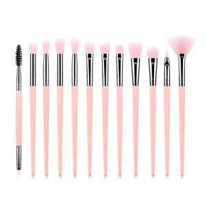 Image 4 - 12Pcs แปรงแต่งหน้าชุดเครื่องมือเครื่องสำอางค์อายแชโดว์ Foundation Blush Blending Beauty Make Up ชุดแปรง Maquiagem DROP เรือ