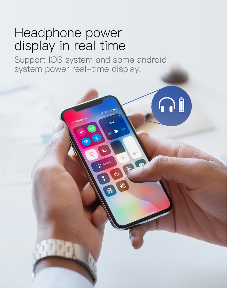 headphone power display in real time
