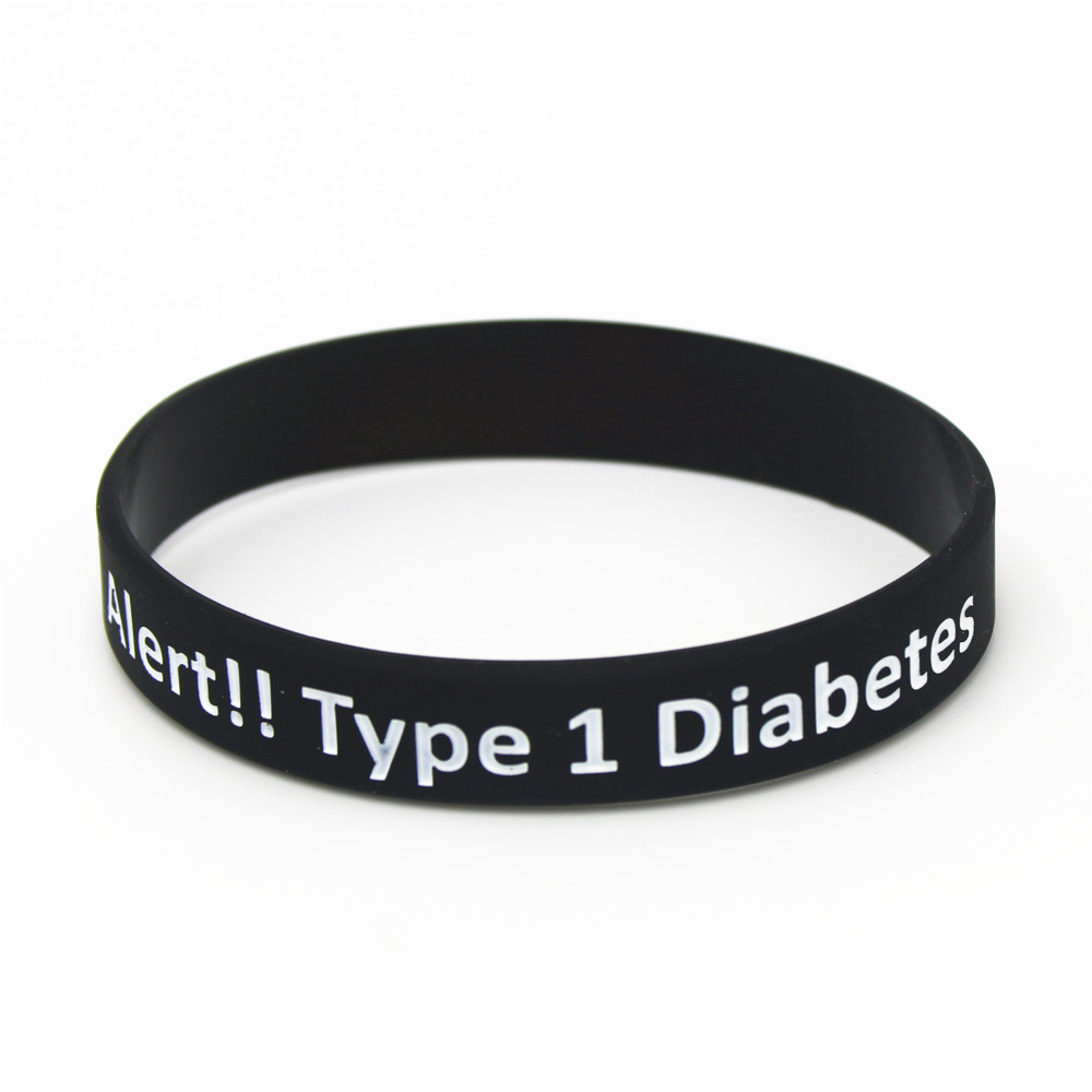 type dp x silicone alert card white insulin identity diabetic medical dependent diabetes id bracelet rubber wristband tone emergency