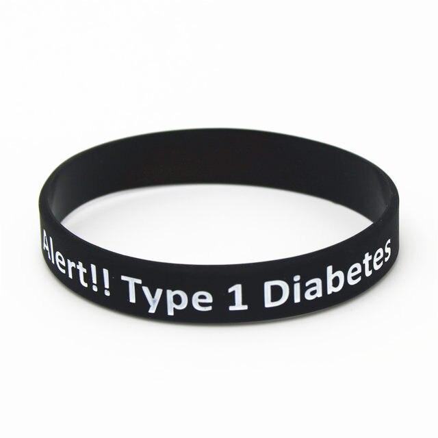 Lukeni 1pc Diabetic Bracelets Medical Alert Type 1 Diabetes Insulin Dependent Silicone Wristband Armband Nurse Bangles Sh043
