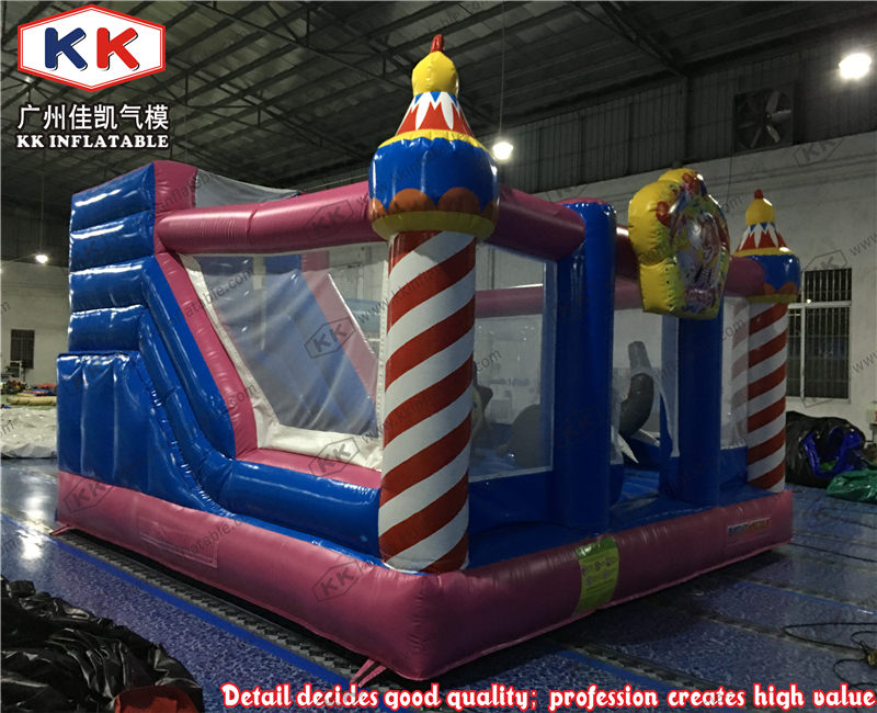 Delicious Ice cream bounce combo with slides for kids