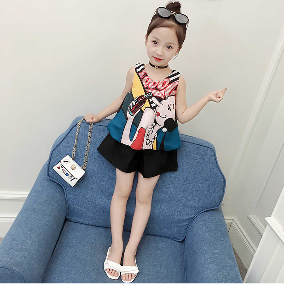 88ca7873b509e Summer Clothing For Girls 2019 Teen Girls Clothing 6 8 12 Years Kids  Clothes Casual Kids Costume 2 Pcs Fashion Children Clothing