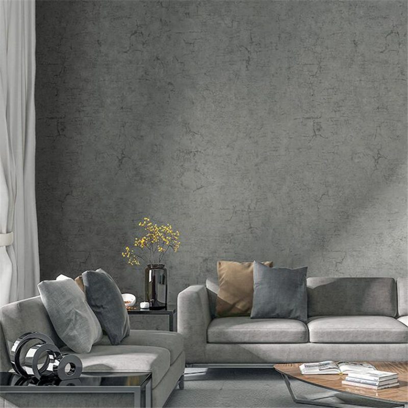 beibehang Gray non-woven modern minimalist Scandinavian wallpaper cement gray wind wallpaper living room bedroom papel de parede футболка drykorn drykorn dr591emzxd55