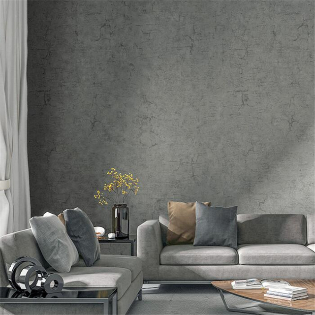 Beibehang Gray Non Woven Modern Minimalist Scandinavian Wallpaper Cement Wind Living Room Bedroom