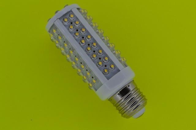 hot saleE27 220V Warm White 7W 108 LED Corn Light Bulb Lamp free shipping e14 b22