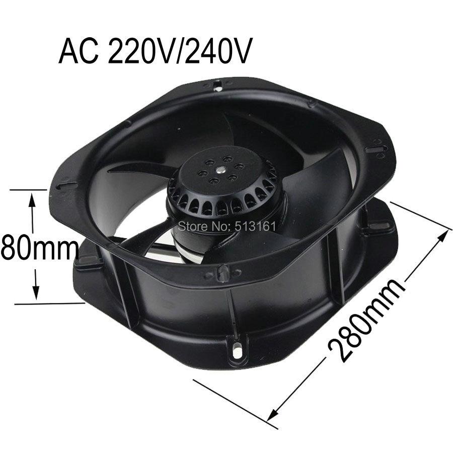 Streng 1 Stücke Bürstenlosen Dc Kühlung 7 Klinge Fan 8025 S 24 V 80x80x25mm Schwarz Heimwerker