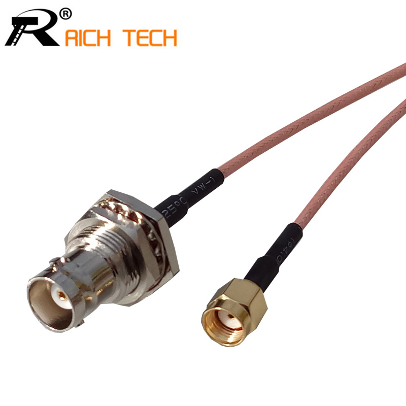 RF RP SMA Female socket Switch BNC Female Jack adaptor RG316 coaxial cable linear Connector 50cm rp sma female to rp sma male pigtail cable coaxial rg316