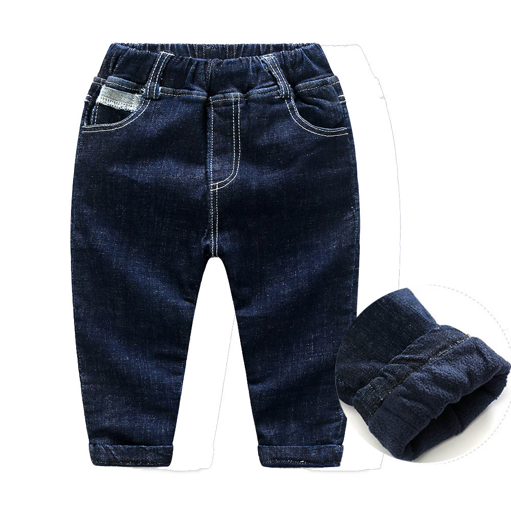 2017 hot new boys girls Plus cashmere exercise Jeans thickening Cotton winter kids trousers baby harem warm pants kids clothing plus size 29 44 men s casual winter straight jeans pants fashion cotton zipper brand clothing denim thick winter hot new loose
