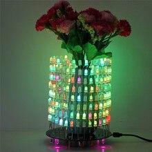 Красочные RGB Мечта свет Круг LED DIY Kit Музыка спектр модуль 5 мм 8×32 матричный с В виде ракушки для подарок светло кубик DIY Kit