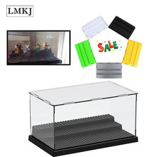 3 Steps Display Case/Box Dustproof ShowCaseBase Compatible for Legoingly Building Blocks Brick Acrylic Plastic Display Box Case