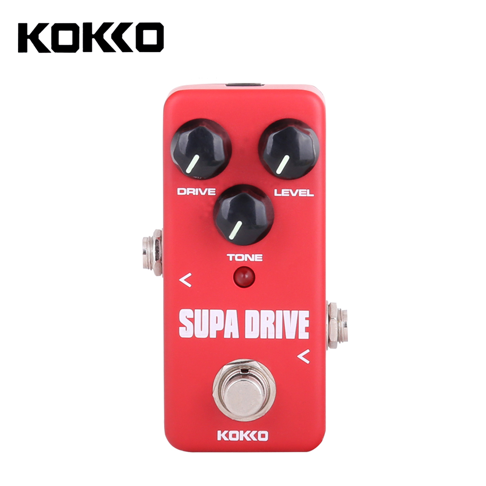 KOKKO FOD5 Portable Mini Supa Drive Electric Guitar Effect Pedal Guitar Parts & Accessories kokko frb2 mini space pedal portable guitar effect external ac adapter delivering 9v dc regulated guitar parts