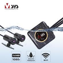 SYS VSYS полный корпус водонепроницаемый мотоцикл камера рекордер P6FL WiFi двойной 1080 P Full HD мотоцикл dvr камера черный коробка gps