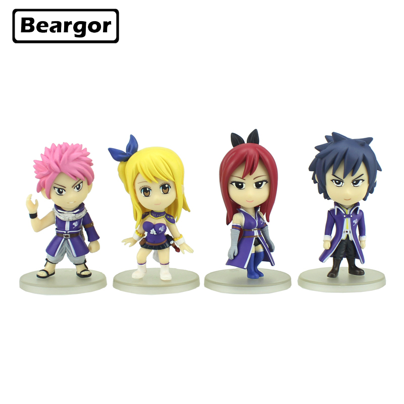 4pcs Cute 3 Fairy Tail Anime Natsu Erza Lucy Gray Solid Set Boxed 8cm PVC Action Figure Collection Model Doll Toys Gift4pcs Cute 3 Fairy Tail Anime Natsu Erza Lucy Gray Solid Set Boxed 8cm PVC Action Figure Collection Model Doll Toys Gift