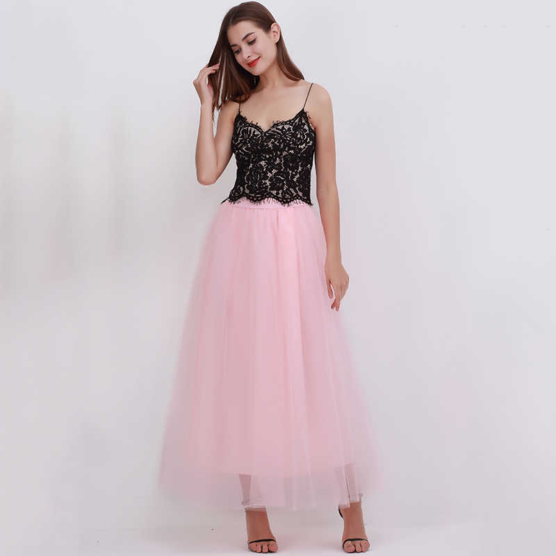 3967bcabee ... 2018 Spring Fashion Womens Lace Princess Fairy Style 4 layers Voile Tulle  Skirt Bouffant Puffy Fashion ...