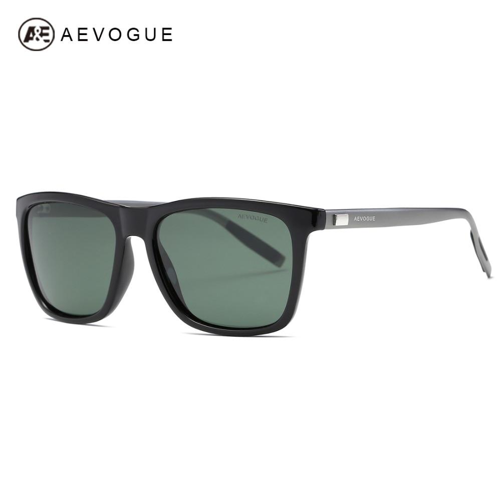 AEVOGUE Polarisierte Sonnenbrille Männer TR90 Rahmen Aluminium Magnesium Tempel Sommer Stil Luxus Sonnenbrille UV400 AE0521