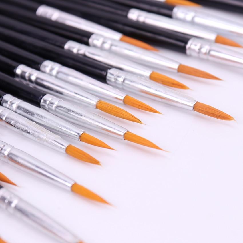 10 шт., изящная ручная ручка-крючок, Круглый наконечник, акварельная кисть для рисования; Ручка, школьные принадлежности, товары для рукодели...