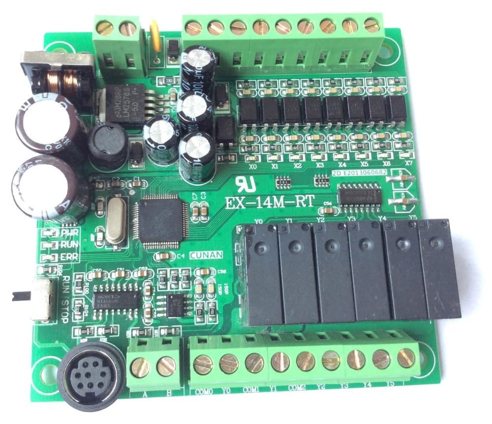 все цены на EX1S FX1S 14MR programmable logic controller 8 input 6 output RS485 Modbus RTU plc controller automation controls plc system онлайн