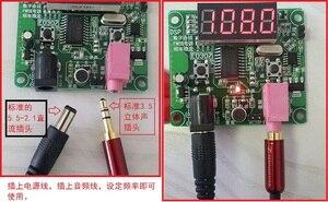 Image 3 - DSP FM טכנולוגיה FM רדיו משדר מודול דיגיטלי LED תצוגת FM תדר 65MHz 125MHz עבור אלחוטי אודיו קול 12V 24V