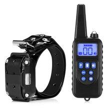 6.18 מכירה 880 800m Waterproof נטענת כלב אימון צווארון שלט רחוק LCD תצוגה