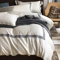 RUIYEE бренд 60 beding комплект хлопок чистый цвет хлопок сатин комплект постельного белья 100% хлопок пододеяльник комплект постельного белья 4 шт.