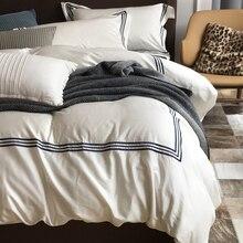 RUIYEE бренд 60 beding комплект хлопок чистый цвет хлопок сатин комплект постельного белья 100% хлопок пододеяльник комплект постельного белья 4 шт. Комплект постельного белья