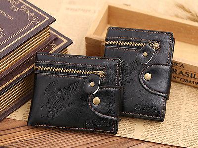 New Men's Leather Wallet Purse Business Credit Card Holder Bifold Brown Eagle Wallet