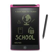 NEWYES tableta de escritura LCD de 8,5 pulgadas, tableta de dibujo Digital, almohadillas de escritura a mano, tableta tipo pizarra electrónica portátil, tablero ultrafino