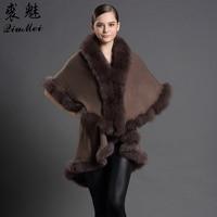 Women Fur Scarves Stole Genuine Fox Fur Collar Coat Female Poncho Real Fur Pashmina Fashion Winter Furry Shawl Cape Luxury Brand