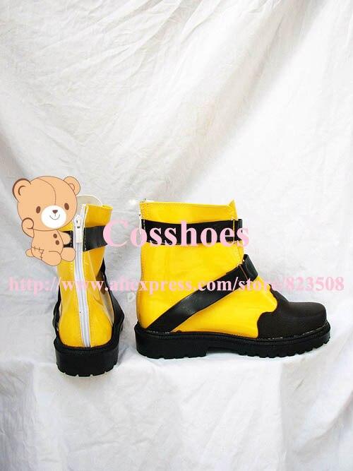 Обувь для костюмированной вечеринки желтого и черного цвета на заказ