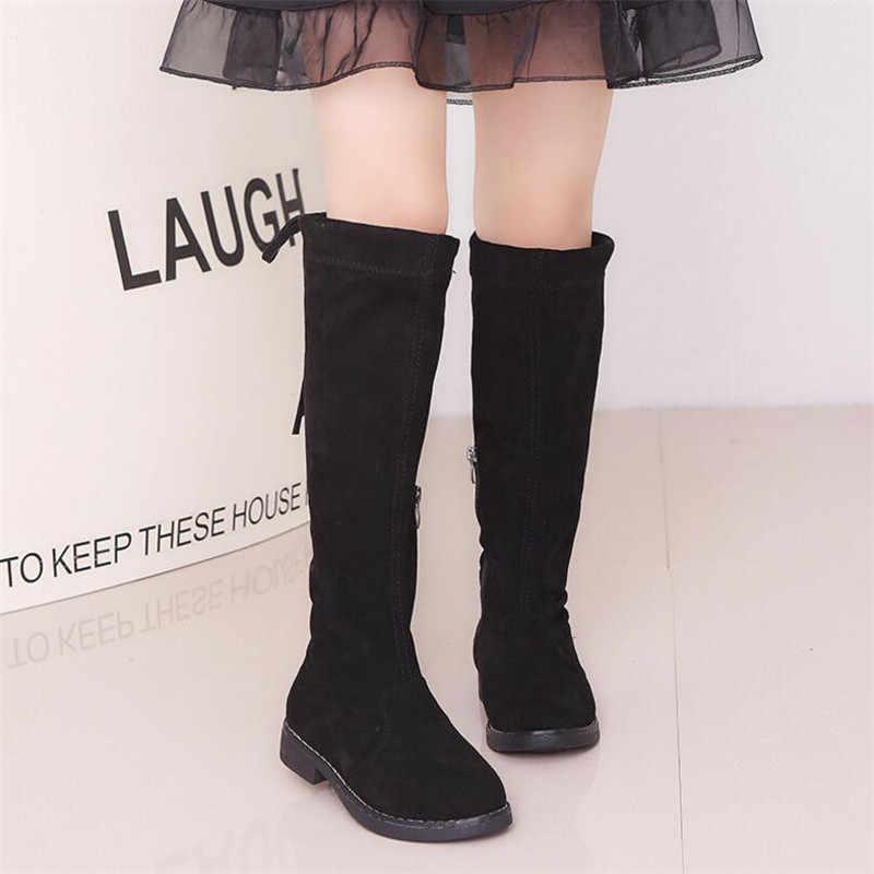 1320ee0b542d ... Autumn Winter Girls Boots Children High Boot With Fur Girls Princess  Over-the-knee ...
