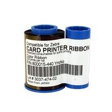 Zebra 800015-440 YMCKO Cor da Fita Compatível 200 impressões/rolo para Zebra P310, P320i, P330i, P420i, impressora de cartões p430i
