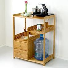Simple bamboo sofa side mini coffee table tea rack tea cabinet removable side cabinet tea table corner table burning table