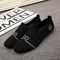 AD AcolorDay Slip on Zapatos de Los Hombres de Los Holgazanes del Ante del Estilo Chino de Primavera y Verano Transpirables Zapatos Mocasines de Los Hombres Diseñador de la Marca de Lujo