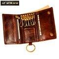 Оригинальный кожаный мужской модный многофункциональный кошелек для монет  автомобильный чехол с дистанционным управлением  чехол с кольц...