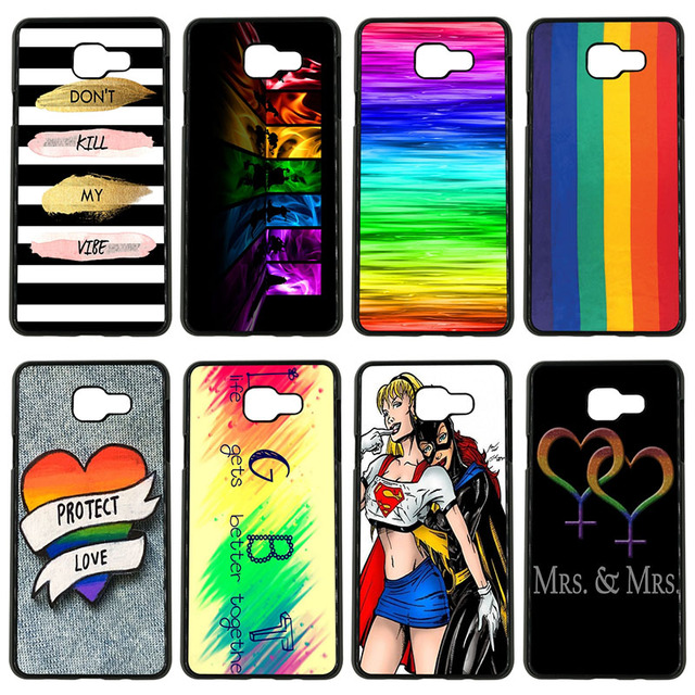 40515ec87 Gay Lesbian LGBT Rainbow Pride Art Cell Phone Case Hard Cover for Samsung  Galaxy S8 S9 Plus S3 S4 S5 Mini S7 S6 Edge Plus Shell