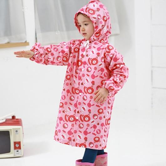 Practical Hooded Rain Coat for Boys And Girls Waterproof Raincoat Cape Jacket JJ