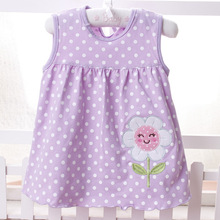 New Summer Cute Baby Girl 100% Cotton Casual  Dress