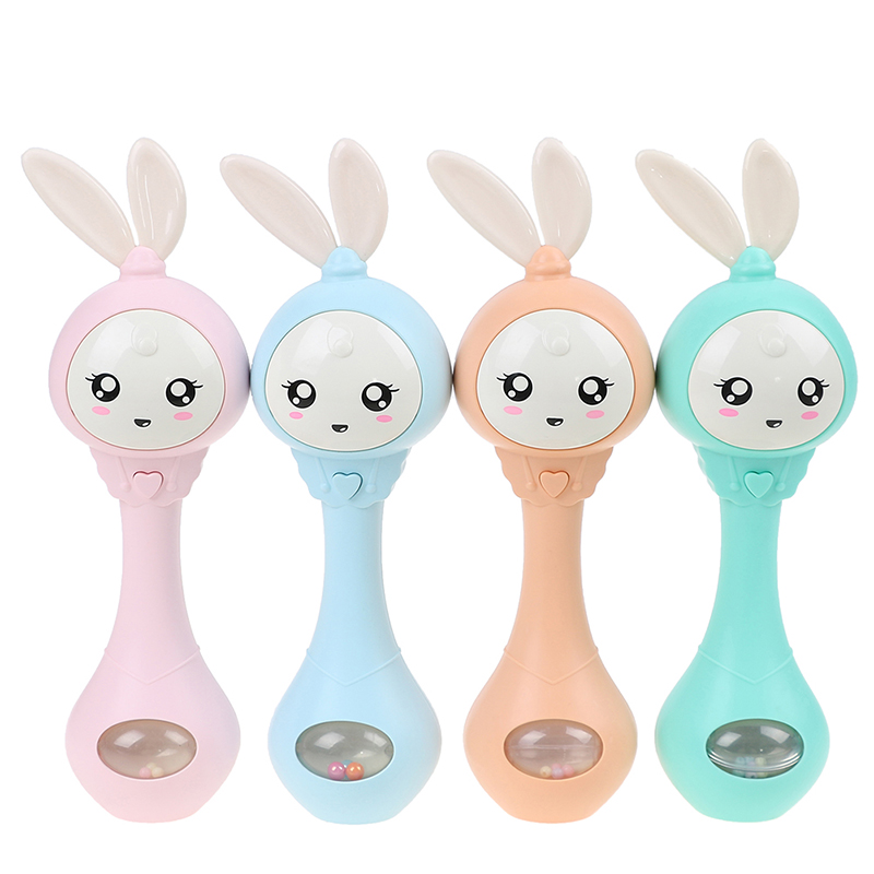 Baby Hand Rattles Bells Toy Cute Music Rabbit Bell Toy Early Educational Hand Ring Bell Toy Kids Gift