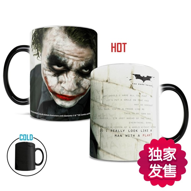 Batman Mugs Bat Man Mug Morphing Coffee Disearing Printed Transforming Novelty Heat Changing Color