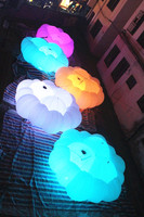 Бесплатная доставка диаметр 3 м красочные освещение надувные украшение облако для сцены и вечеринок