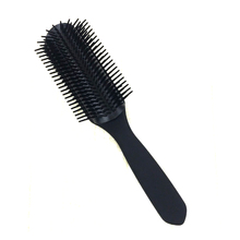 European Style Black Hairdressing Brush Comb 9 Line Teeth Detangle Hair Comb With Ball Tip Pro Hair Pomade Brush For Haistyling
