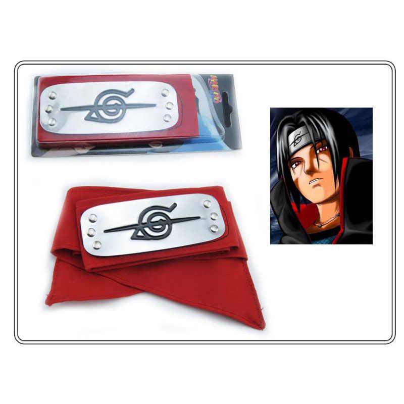 Повязка Naruto аниме Косплэй из искусственной кожи, крутой Гаара Orochimaru Головные уборы боль Итачи Учиха SASUKE kakashi лба защитная маска для взрослых Секс игрушки