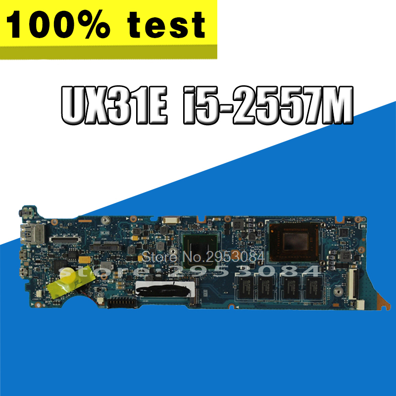 UX31E Motherboard 4GB i5-2557M For ASUS UX31E Laptop motherboard UX31E Mainboard UX31E Motherboard test 100% OK for asus zenbook ux31 ux31e ux31a ux31e ux32a ux32e ux32v ux32vd k ux31a ux31e bx32 laptop keyboard it italian backlight paper