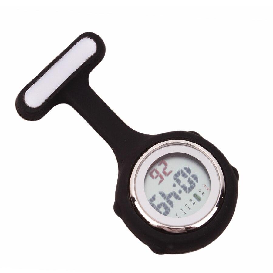 ALK VISION Digital Silicone nurse watch doctor nurse gift fob pocket watches timepiece brooch lapel clock