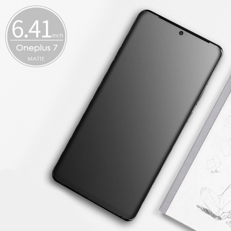 CHYI Soft Curved Tempered Glass Matte Screen Protector for Oneplus 7t 8 Pro 2